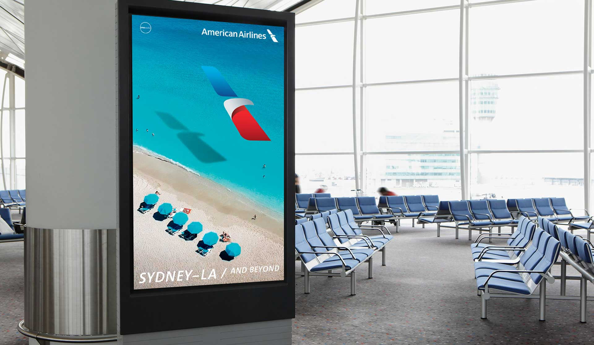 Iconic fox American Airlines Digital-signage