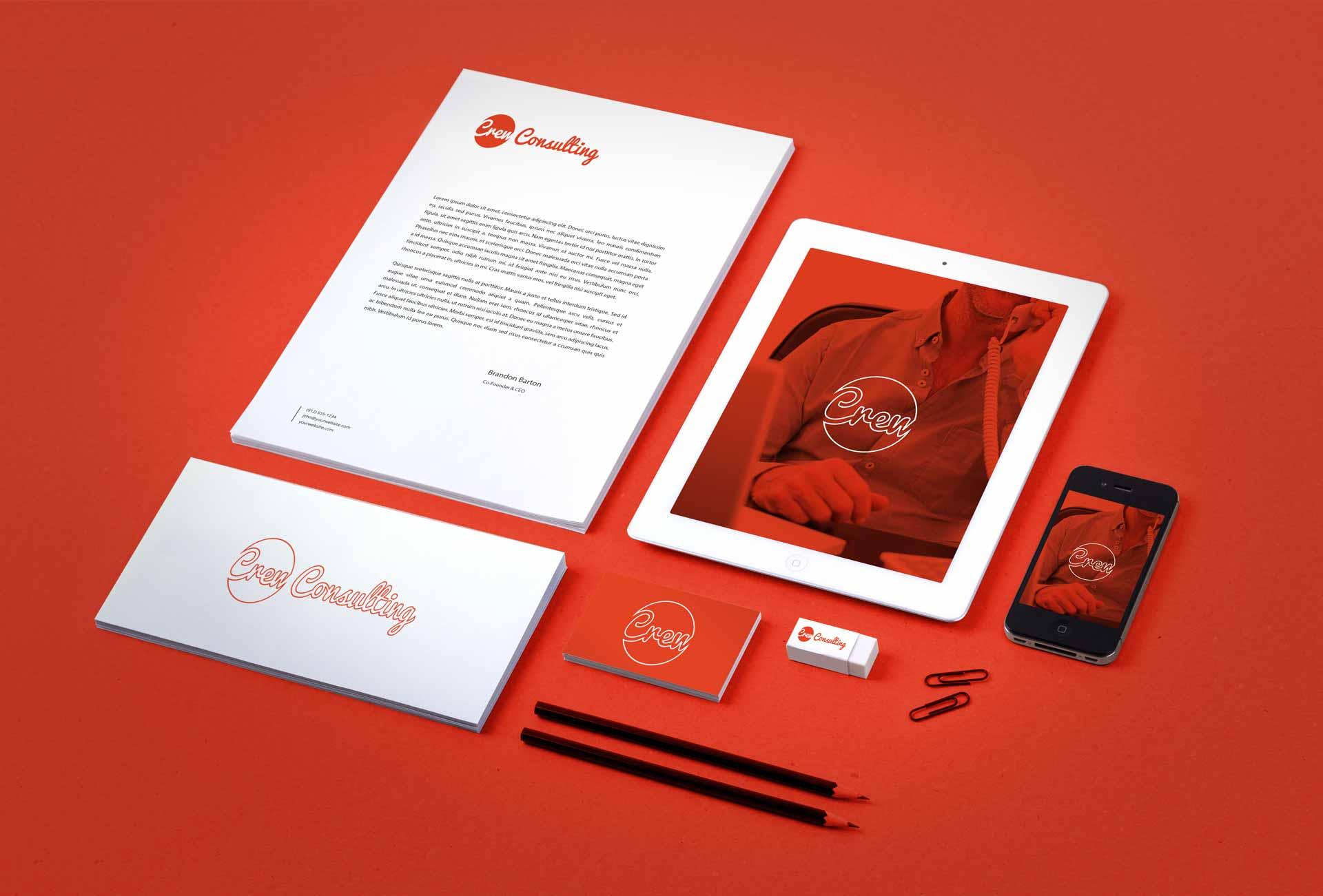 iconic fox Crew Consulting-Branding-Identity-MockUp