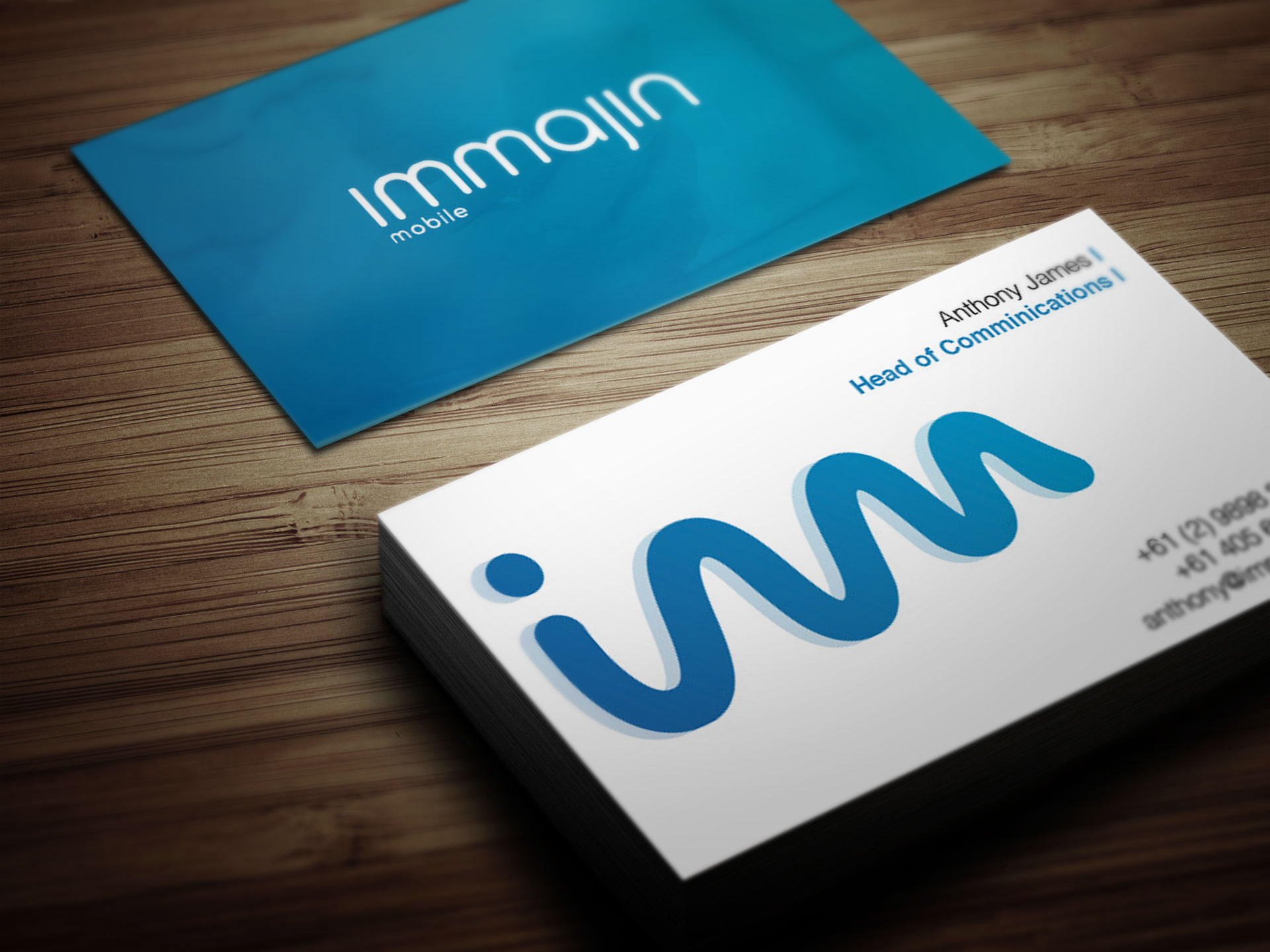 immajin Business Cards mock